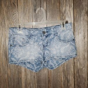 Mossimo Floral Print Shortie Jean Shorts